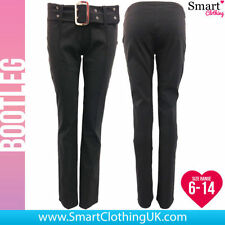 Bootcut Polyester Tailored Trousers for Women