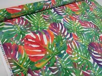 TROPICAL LEAVES Palm Leaf Curtain Upholstery Cotton Fabric Material 140cm wide