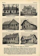 Die Schulhäuser des Gestüts Trakehnen Pferde 6 historische Aufnahmen von 1903