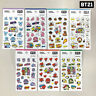 BTS BT21 Official Authentic Goods Clear Sticker Ver2 7SET + Tracking Number