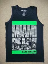 "Miami Beach Florida navy vest top Age 5-6 Chest 26""  Size XS Excellent Condition"