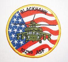102nd ASF Black hawk US Army Aviation Pocket Patch C0357