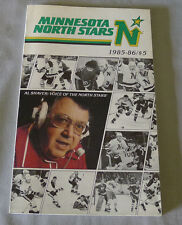 Original NHL Minnesota North Stars 1985-86 Official Hockey Media Guide