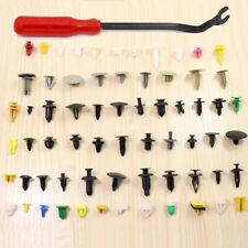 200X Car Plastic Rivet Fasteners Push Pin Bumper Fender Panel Clips+Screwdriver