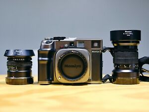 Mamiya 7 Camera 80mm and 150mm Lens EXCELLENT Condition with strap