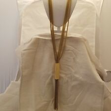 Gold Baguette Tassel Necklace