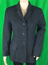 Ann Taylor Women's Gray Wool Career Blazer 3 Buttons Front Size 10 Petite PreOwn