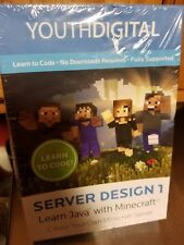 BRAND NEW SEALED SOFTWARE YOUTHDIGITAL SERVER DESIGN 1 LEARN JAVA MINECRAFT 8-14