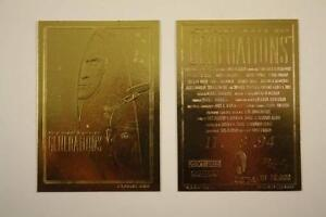 """STAR TREK """"GENERATIONS"""" MOVIE POSTER LIMITED EDITION 23KT GOLD CARD! ONLY 10,000"""