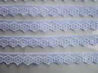 2 METER GPO Spitze Blumen 1,5cm Weiß breit Elegante Nichtelastisch GPO 218