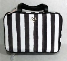 Victoria's Secret Striped Jetsetter Hanging Travel Case Cosmetic Bag  B/W NWT