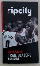2014-15 Portland Trail Blazers Basketball NBA Pocket Schedule