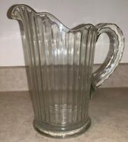 Large Vintage Clear Glass Pitcher