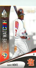 2006 SP AUTHENTIC WBC FUTURE WATCH BASEBALL CARD #81 HARVEY MONTE 104/999