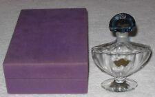 "Vintage Guerlain Baccarat Style Shalimar Perfume Bottle/Box  2 OZ - Empty 5 3/4"""