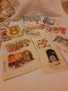 A BUNDLE OF VINTAGE BIRTHDAY/ CHRISTMAS CARDS