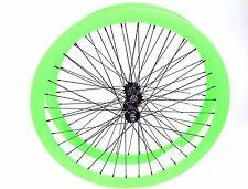 700C Alloy Wheelset 43mm Neon Green Fixie Freewheel Single Speed Triple Wall