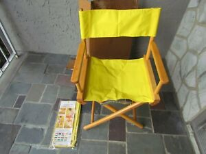 Vintage TELESCOPE Brand Directors Chair Yellow Fabric
