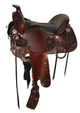"Tucker Saddlery 16.5"" Horizon Wanderer Trail Saddle #295 New Wide Fit Tree Brown"