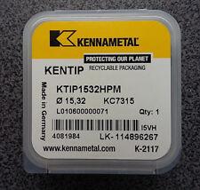 Wendeplatten Bohrkopf 1 x Bohrkrone KENNAMETAL KTIP1532HPM Ø 15,32 KC7315 insert