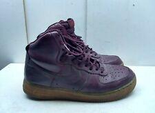 Nike Air Force 1 Purple Hi Leather Athletic Sneaker Unisex Shoes Men 8 Women 10