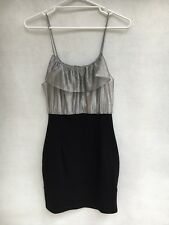 💥❄️ Womens Bec & Bridge Viscose Blend Embellished Stretch Dress Short Size 10