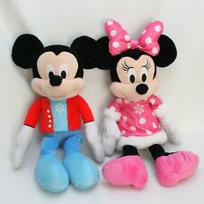 """Mickey Minnie Plush 22"""" Holiday Set of 2 Unplayed With Large Animal Toys Perfect"""