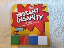 INSTANT INSANITY Puzzle Cubes Blocks Retro 1986 Brain Teaser Twister Game NEW
