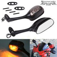 Yana Shiki USA MIR324BR Black OEM Style Racing Right Side Mirror with Turn Signal