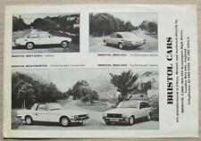 BRISTOL CAR RANGE Car Sales Brochure 1982-83 BRITANNIA Beaufighter BRIGAND