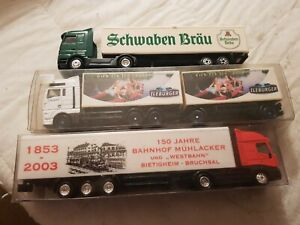 A Model Small Joblot Of 3 Die Cast Articulated Lorrys In Ho Gauge By Mixed...