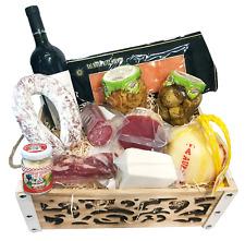 Strenna di Natale PLATINUM BOX 1 - Cesto Natalizio Gastronomico salumi formaggi