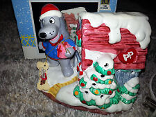 1987 Tonka POUND PUPPIES DOG Christmas CERAMIC LIGHTED HOUSE Vintage NEW W/ BOX
