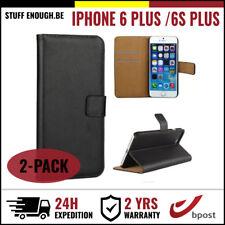 2IN1 Wallet Case Cover Cas Coque Etui Hoesje Black For iPhone 6 Plus / 6S Plus