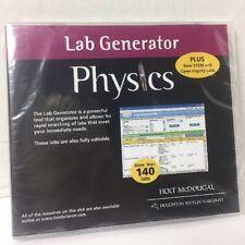 Holt McDougal Physics Lab Generator CD New Sealed