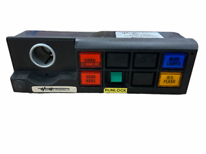 Used Woodway 1 Din 4 Way Switch Panel Lights Controller & Cig Lighter Whelen 01