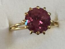 9K Yellow Gold & 2.2CT Synthetic Alexandrite  Ring,4.3 Grams, Vintage