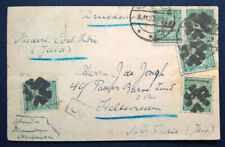Germany 1923 Inflation Postkarte to JAVA Netherlands East Indies