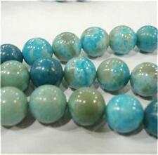 8mm Blue Crazy Lace Agate Round Loose Beads 15''##CH551