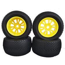 140mm RC 1:8 Monster Truck Bigfoot Rubber Tyre Tires &17mm Wheel Hub Yellow 996Y