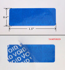 "10,000 SECURITY LABEL SEAL STICKER BLUE TAMPER EVIDENT 1.5"" X 0.6"" XBOX PS3"