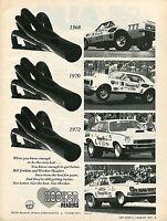 1974 Print Ad of Hooker Headers Bill Grumpy Jenkins Chevrolet Chevy Pro Stock