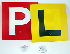 Driver Plates P & L with 4 Suction Cups for Learners and Probationary Drivers