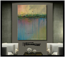 LARGE Direct from Artist ABSTRACT PAINTING CANVAS  WALL ART USA ELOISExxx
