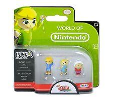 World of Nintendo - Zelda Wind Waker Outset Link, Aryll, Grandma Micro Land NEU