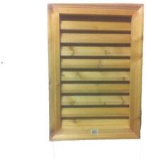Wood Rectangular Louver Vent Gable Attic Siding Ventilation 16 X 24 in. Cedar