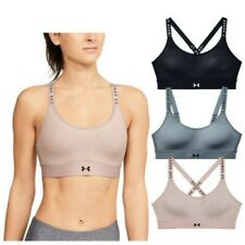 2020 Under Armour Ladies Infinity Mid Impact Sports Bra Gym Training Open Back