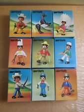 DULCOP VINTAGE TOYS SUPER CHARLY DULCOP FIGURES IN BOXES SET ITALY RARE TOYS