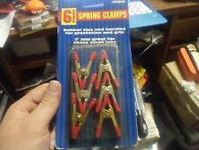 """#91205 6 piece Spring Clamps 1"""" Jaw, new in package"""
