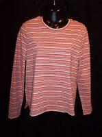 JAMAICA BAY Long Sleeve STRIPED Knit Top Blouse Shirt Size XL Jr. Women's